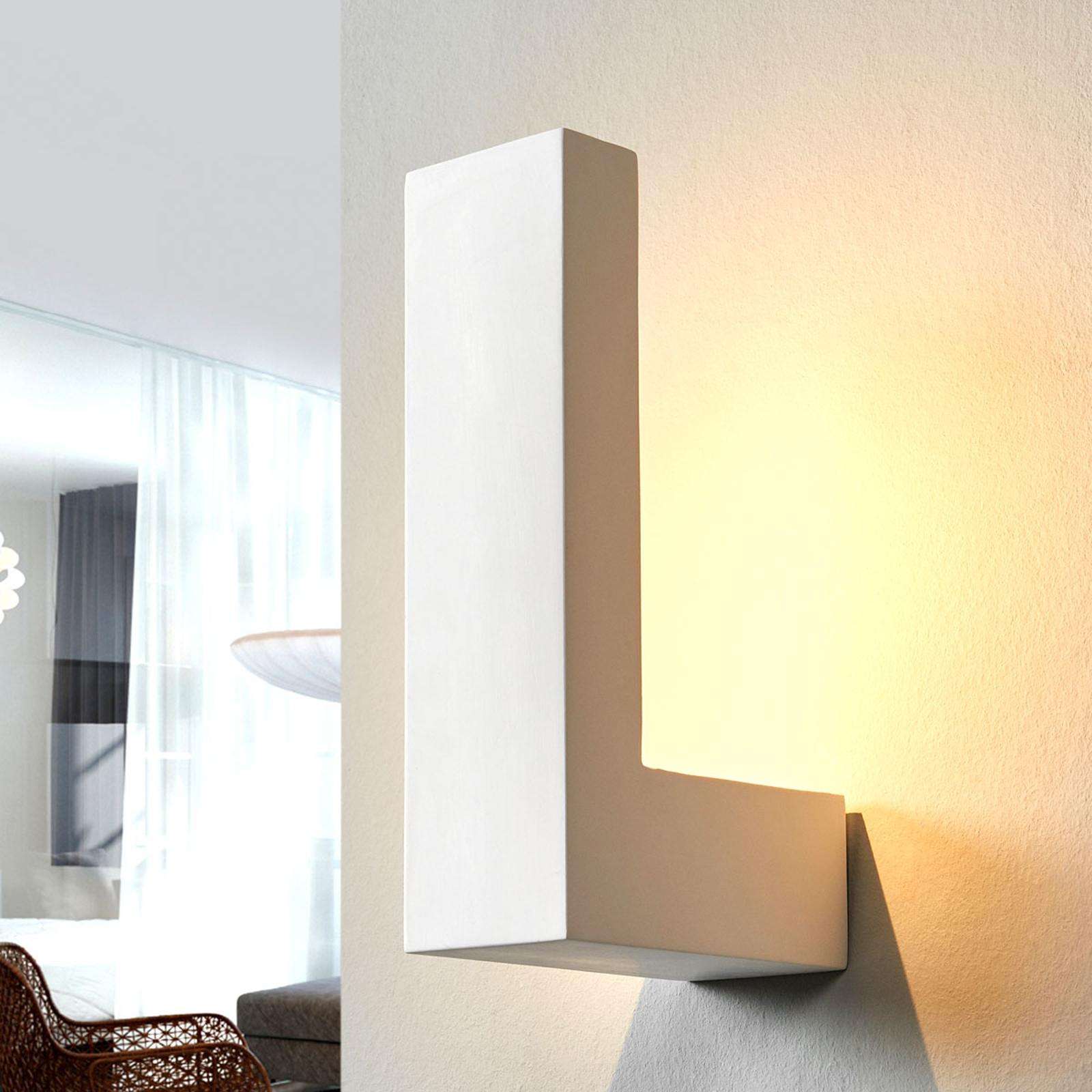 Valkoinen LED-seinävalaisin Cera keramiikasta
