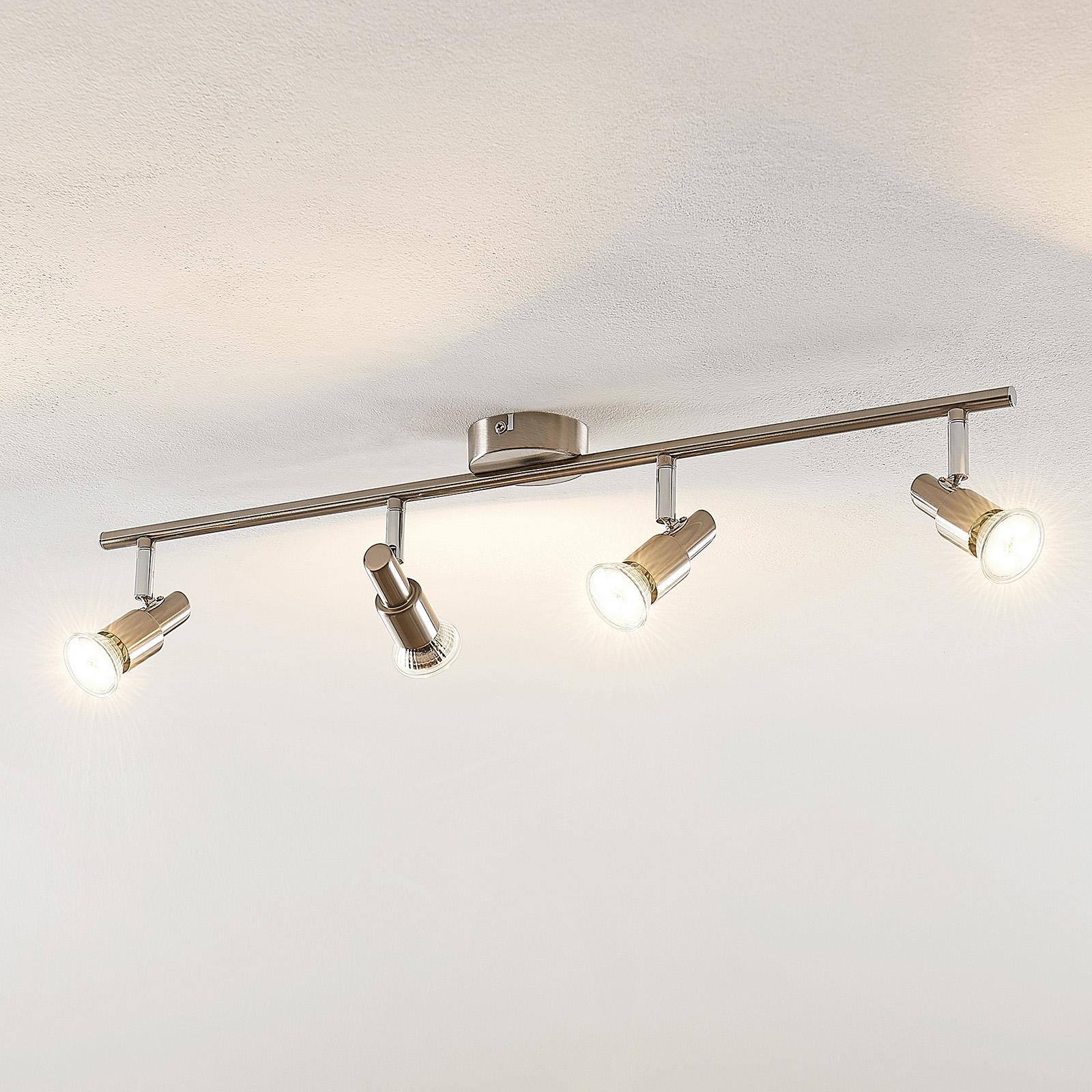 ELC Farida -LED-kohdevalo, nikkeli, 4-lamp.
