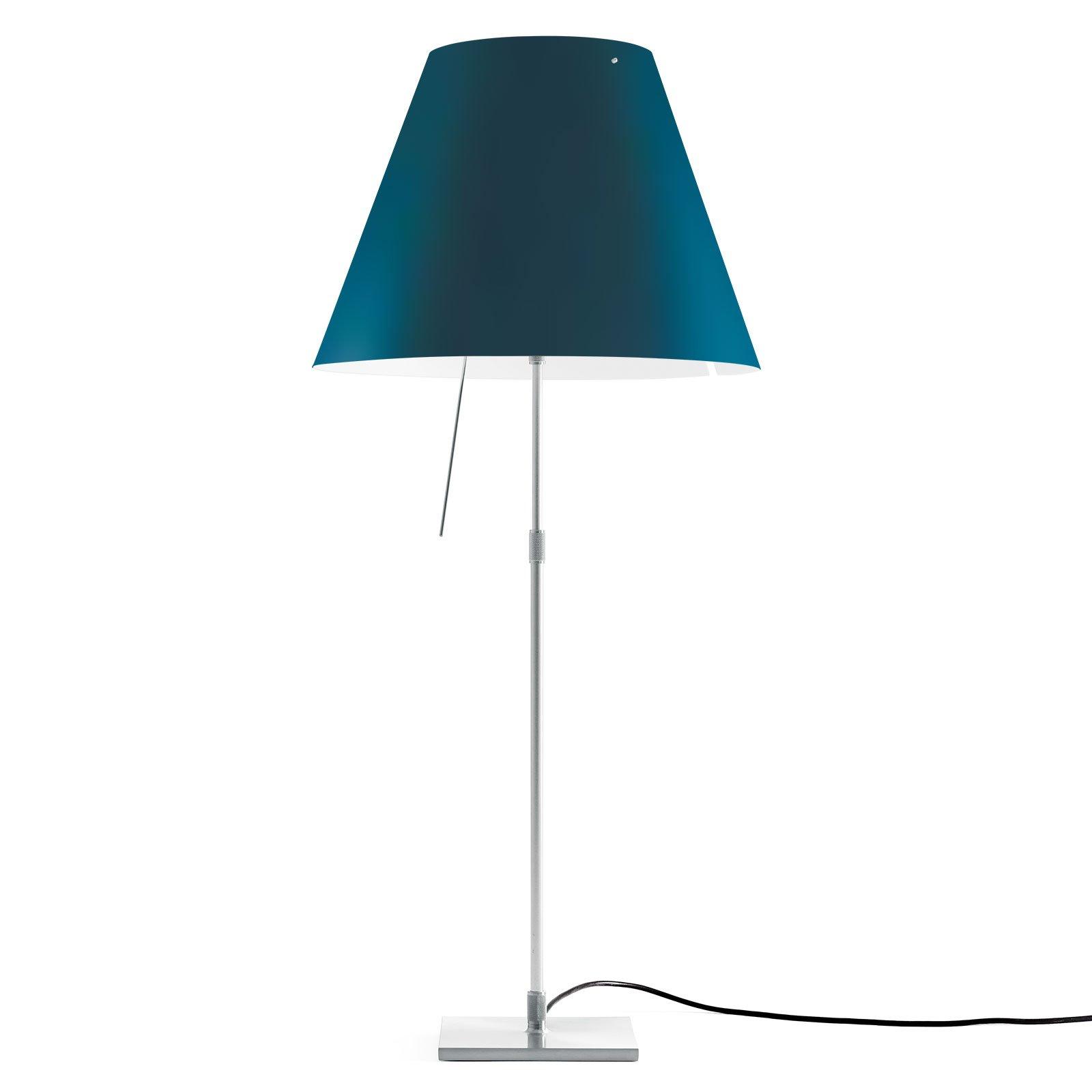 Luceplan Costanza bordlampe D13 aluminium/blå