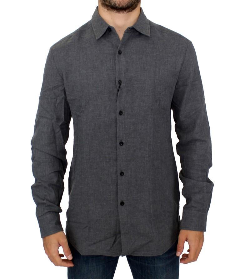 Costume National Men's Cotton Slim fit Shirt Gray SIG10351 - IT46 | S