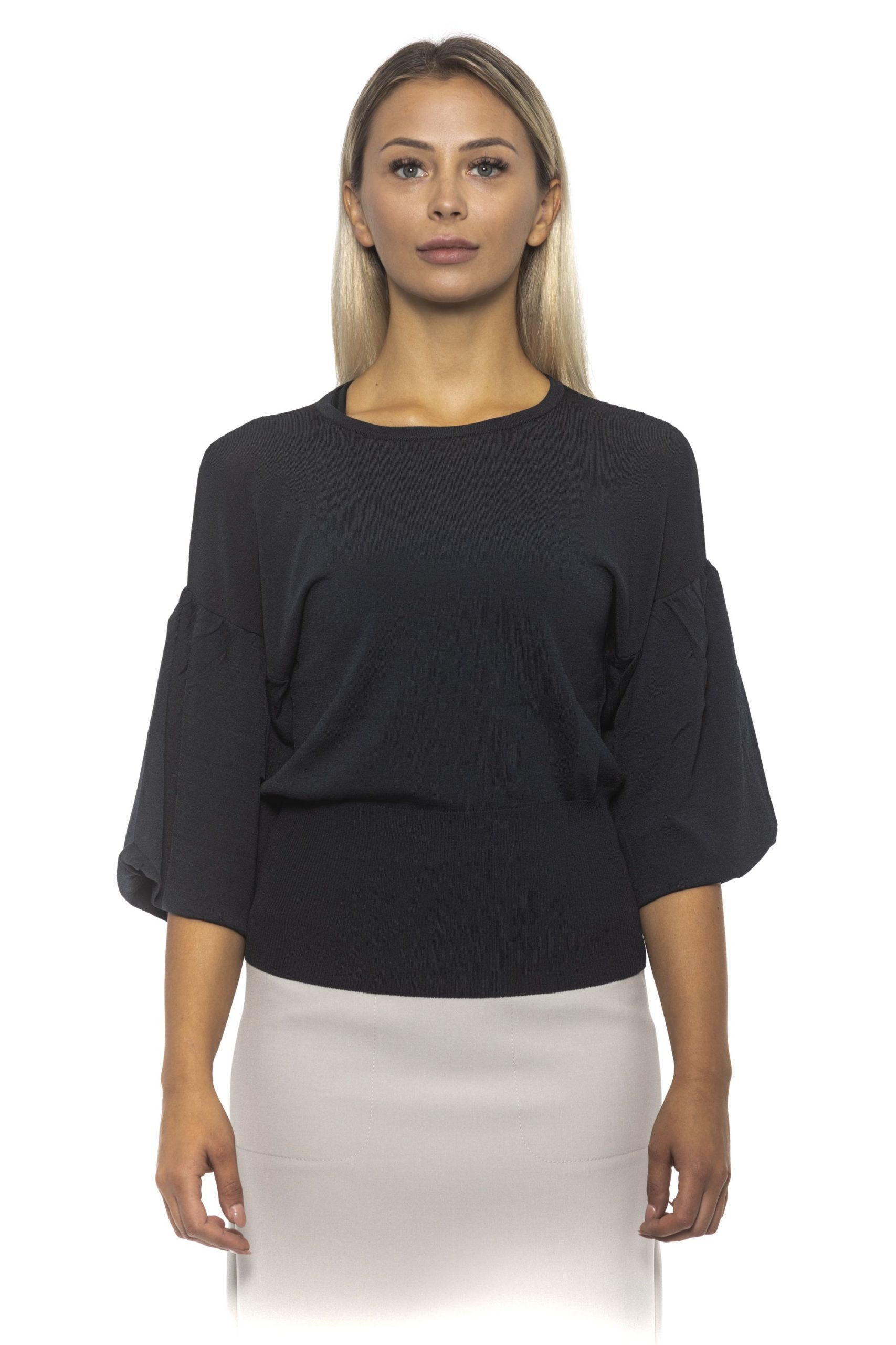 Peserico Women's Sweater Blue PE1383083 - IT42 | S
