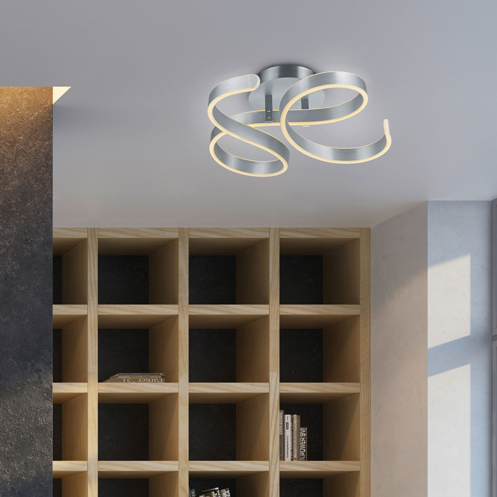 LED-kattovalaisin Francis, harjattu alumiini