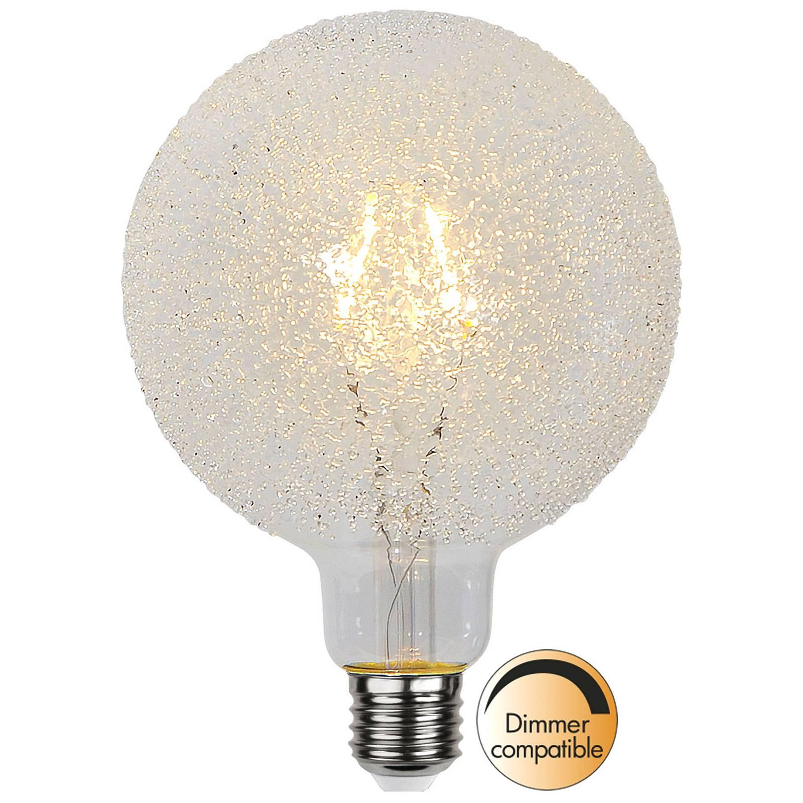 LED-globe-lamppu E27 1W G125 Ice Drop 2600K