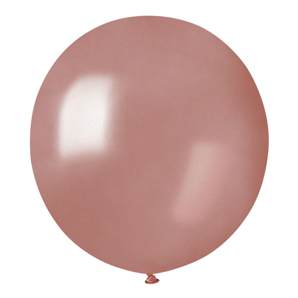 Ballonger Roséguld Runda Stora - 10-pack