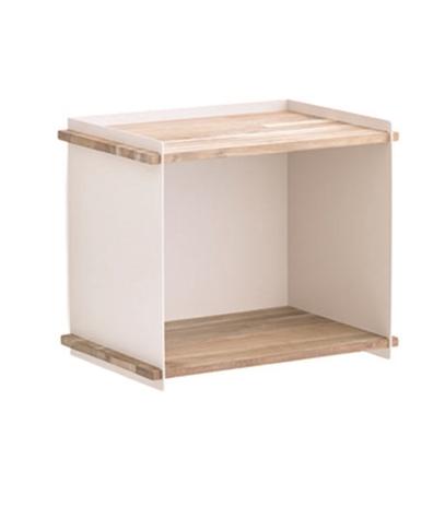 BOX WALL teak vit/ aluminium, Cane-line