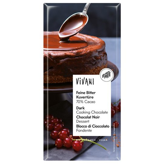 Vivani Ekologisk Mörk Blockchoklad 70%, 200 g
