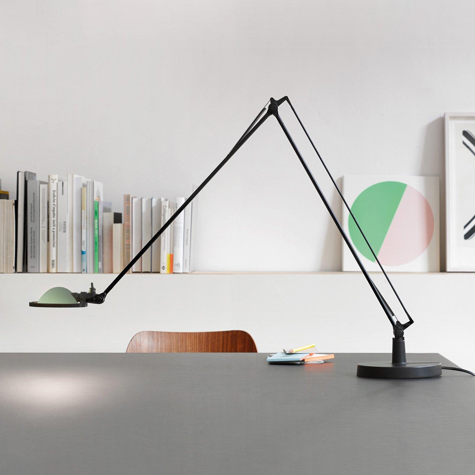 Luceplan Berenice bordlampe 15cm, svart-grønn