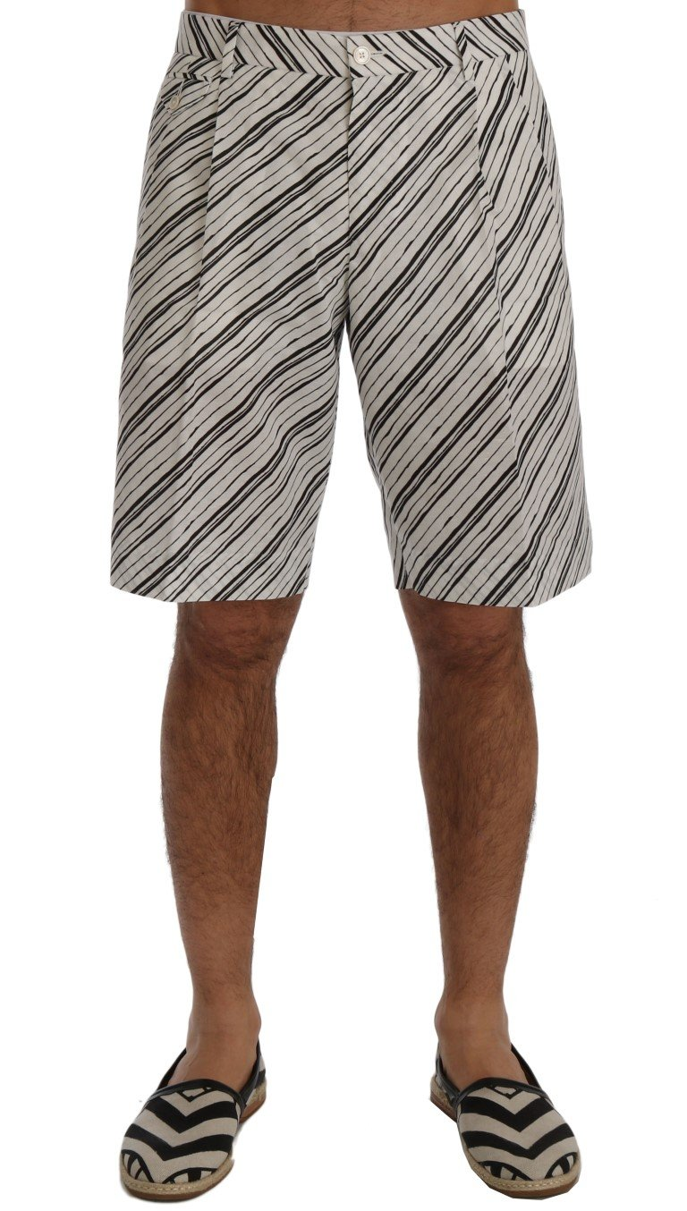 Dolce & Gabbana Men's Striped Casual Shorts Multicolor SIG60404 - IT44 | XS