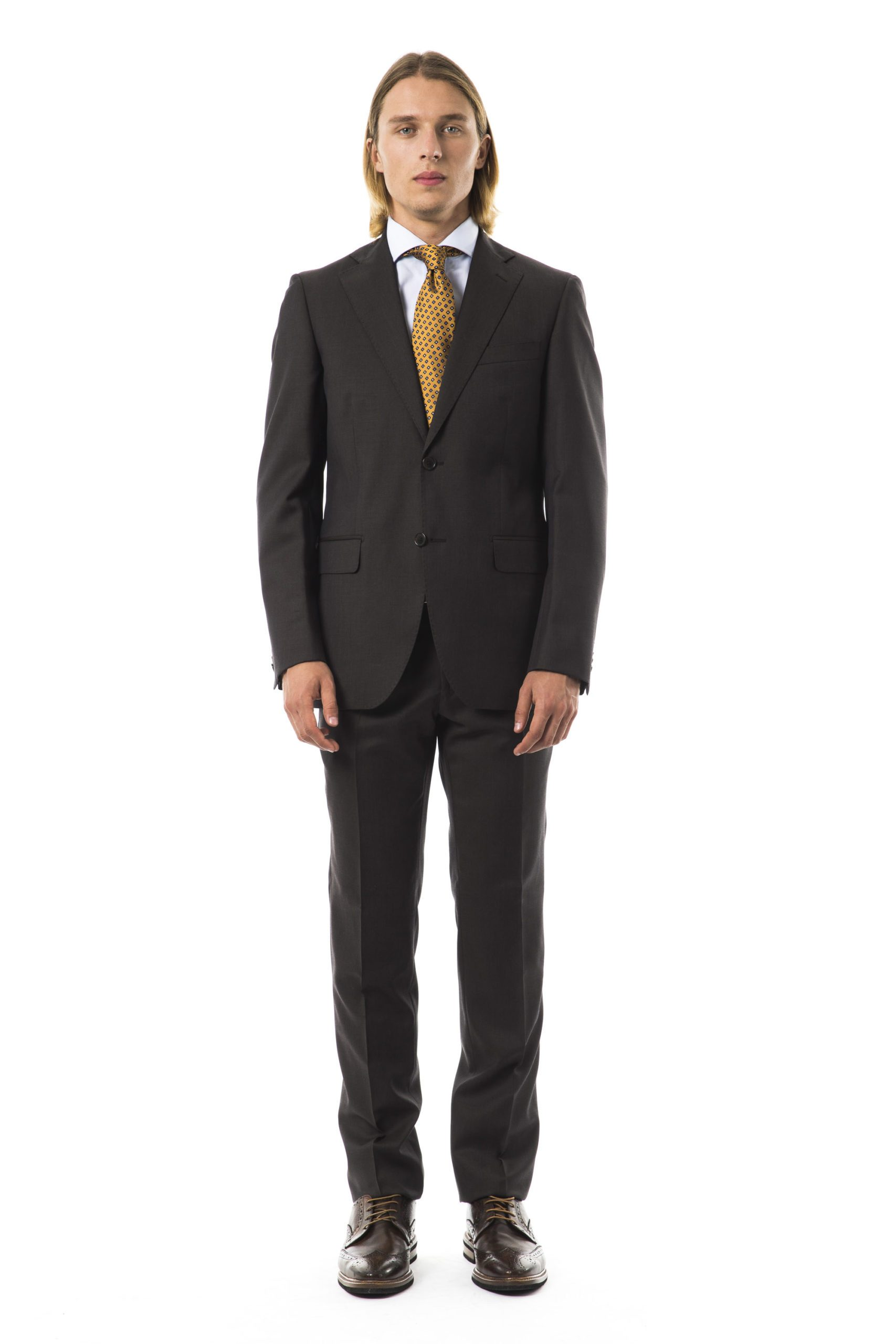 Uominitaliani Men's Suit Gray UO997436 - IT50 | L
