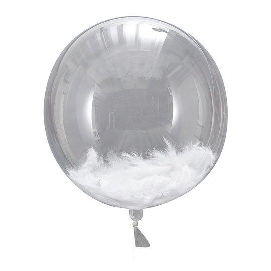 Ballonger Orbz med Vita Fjädrar - 3-pack