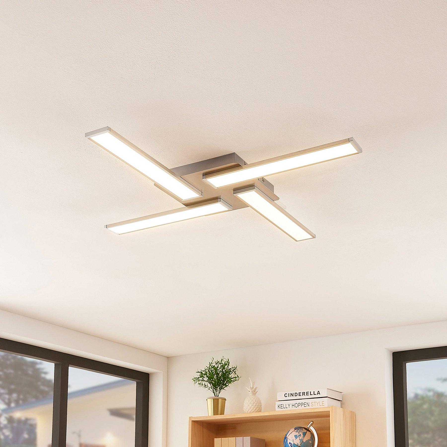 Lindby Smart Ibbe LED-taklampe, fire lyskilder