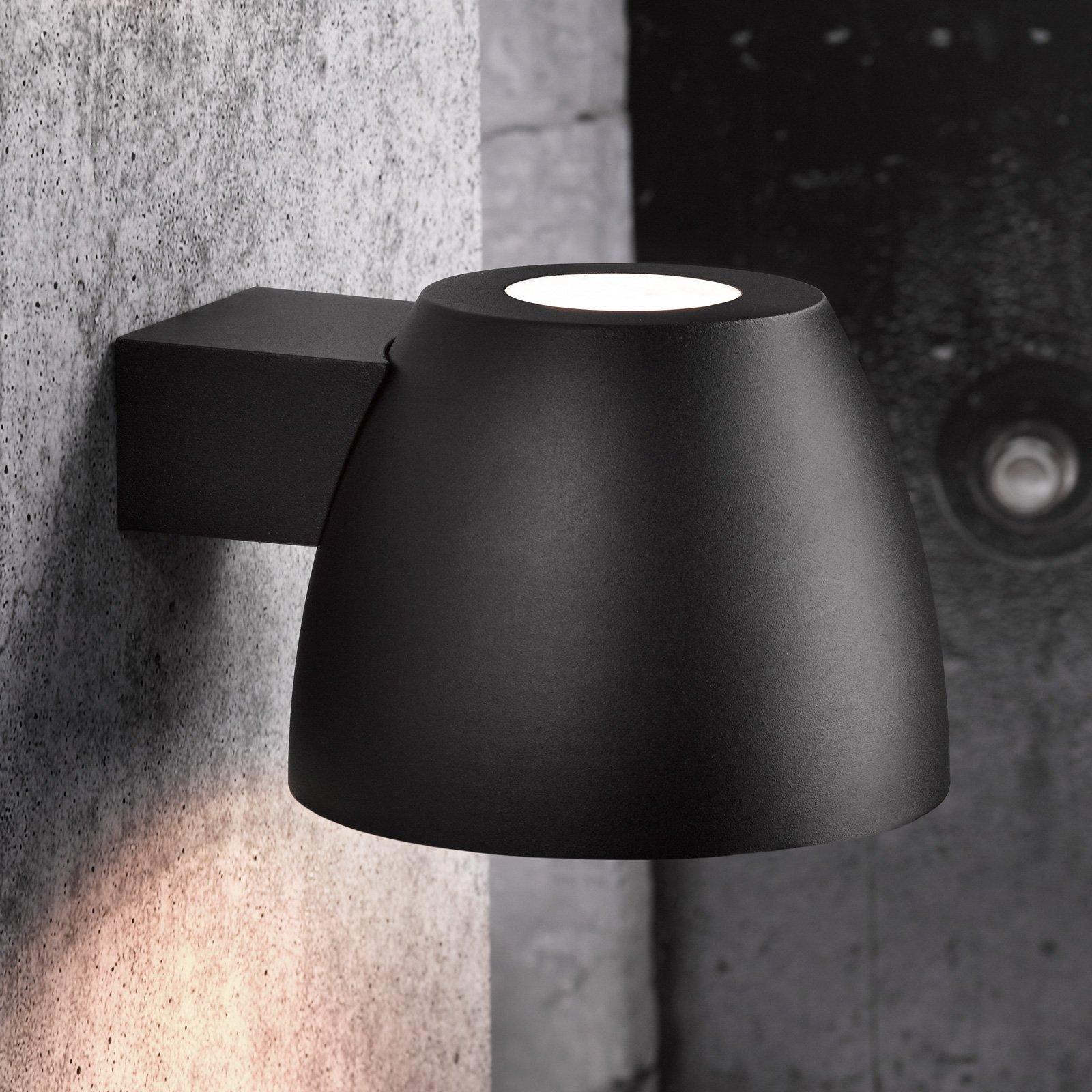 Utendørs vegglampe Bell av aluminium i svart