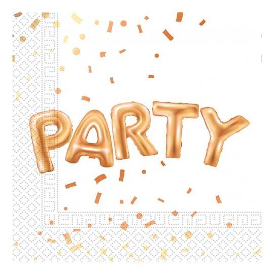 Servetter Party Guld - 20-pack