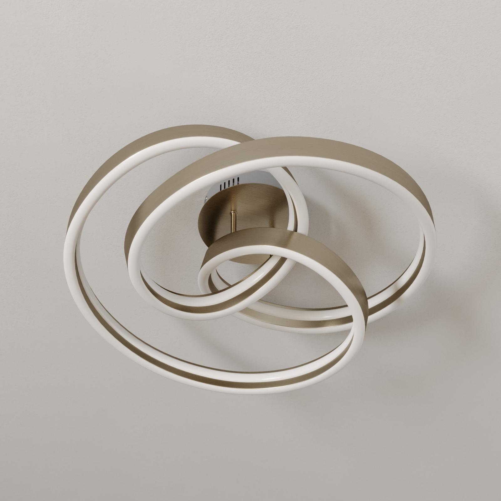 Lucande Gunbritt -LED-kattovalaisin, 60 cm