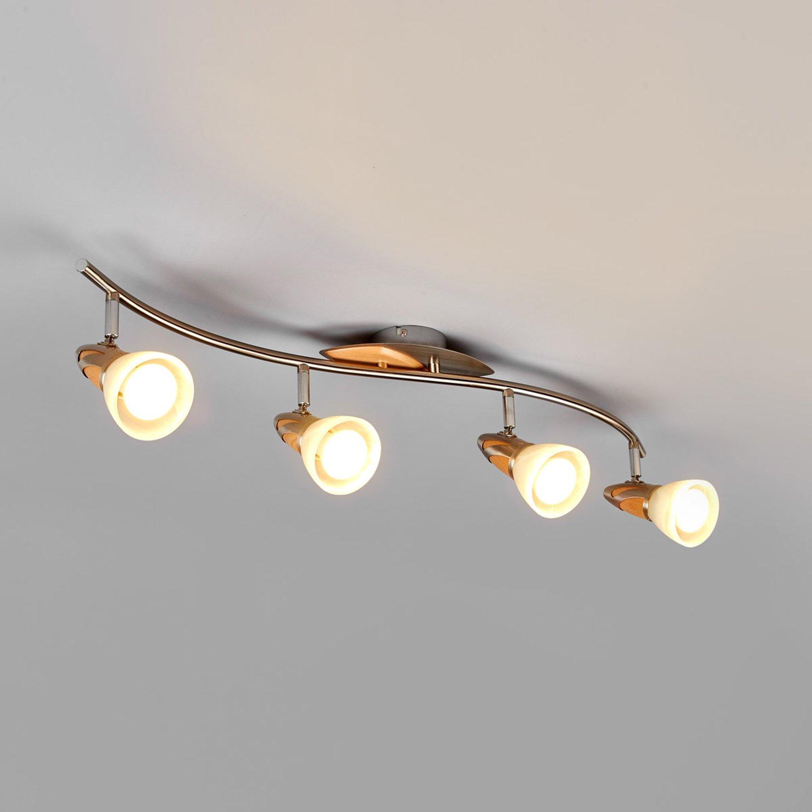 Taklampe Marena med fire lys, E14 LED-lys