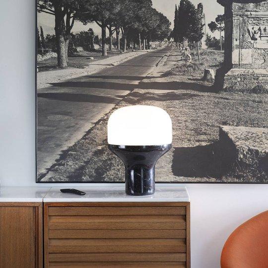Martinelli Luce Delux bord, 22 cm marmor svart
