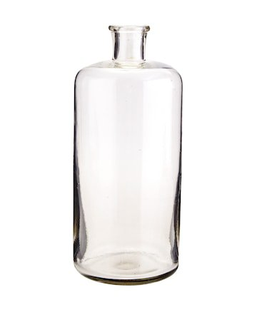 Glasflaske Ø 10 cm - Klar
