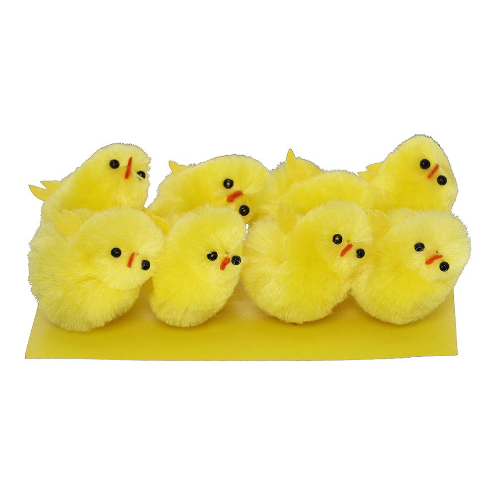 Chenillekycklingar Gula - 8-pack
