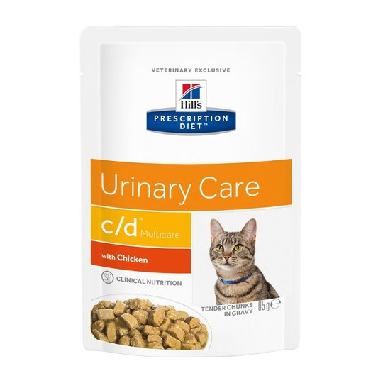 Hill's Prescription Diet Feline c/d Urinary Care Multicare Chicken 12x85 g