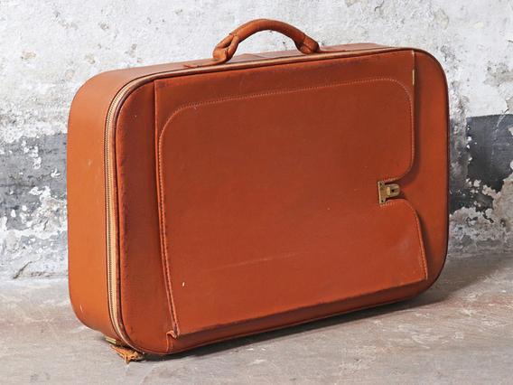 Old Leather Suitcase Medium