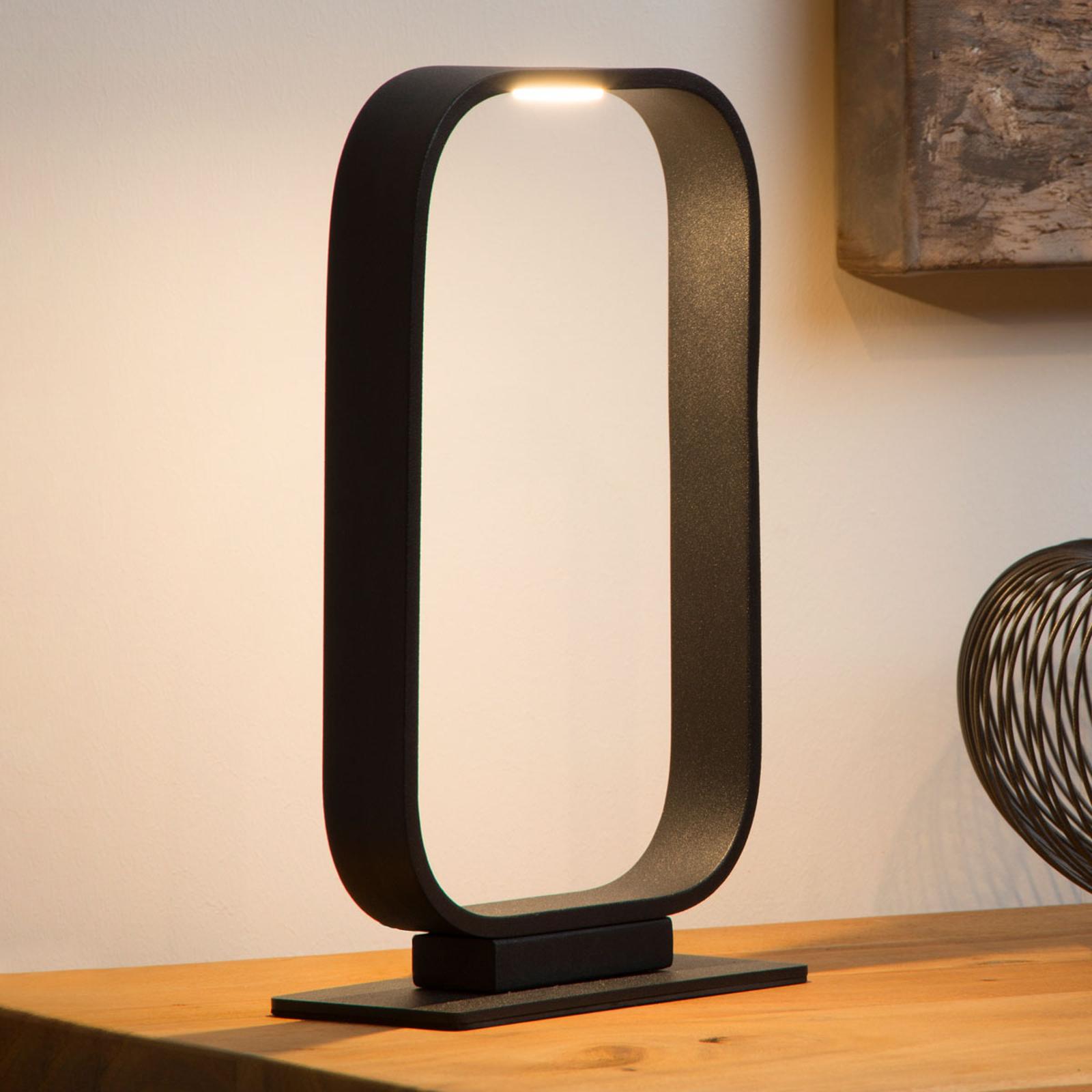 LED-pöytälamppu Mika, kehysmäinen muotoilu
