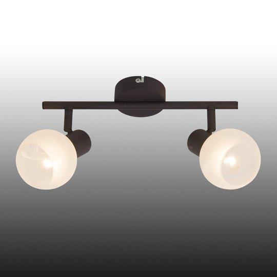 Gabon-kattovalaisin, ruskea-valkoinen, 2-lamppua