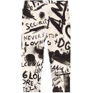 Dolce & Gabbana Grafitti Logo Leggings Vita 9-12 mån