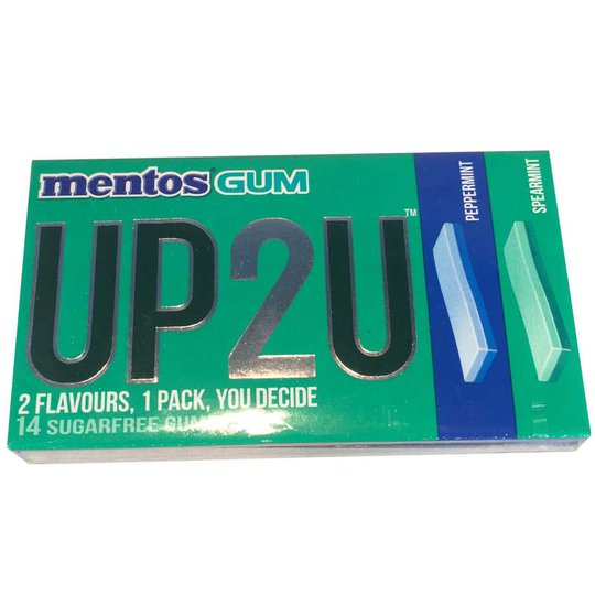 Mentos Gum UP2U Peppermint/Spearmint - 44% rabatt
