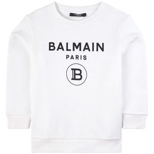 Balmain Logo Tröja Vit 10 år