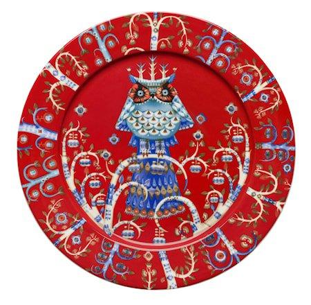 Taika Tallerken 27 cm rød