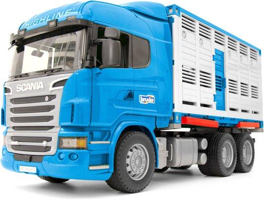 Bruder Scania R-Serie Dyretransport Med Og En Ku