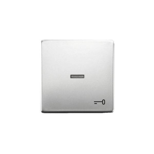 ABB 1789TR-866 Enkeltvippe 1-veis, hvit linse, nøkkel Stål