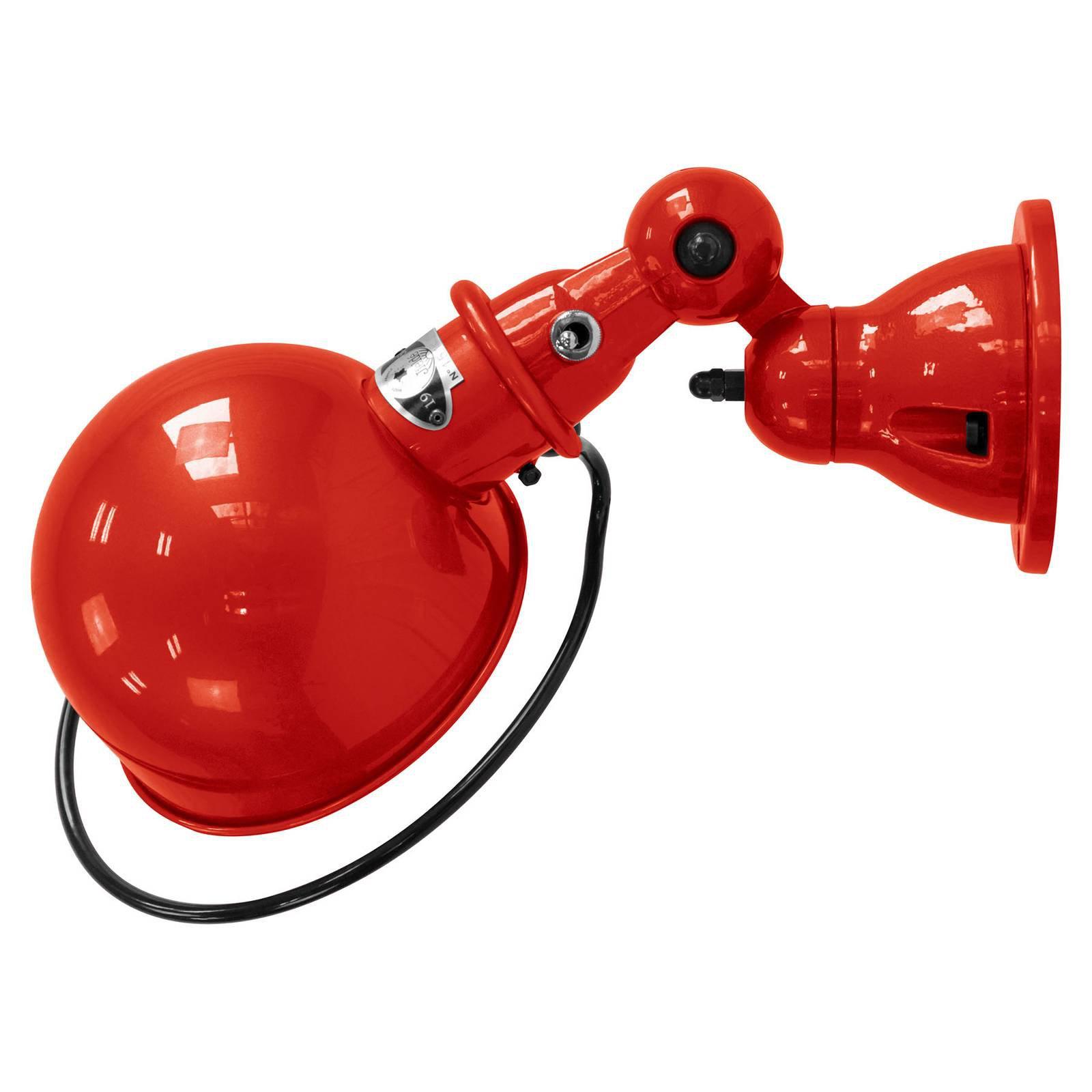 Jieldé Loft D1000 vegglampe, industriell rød