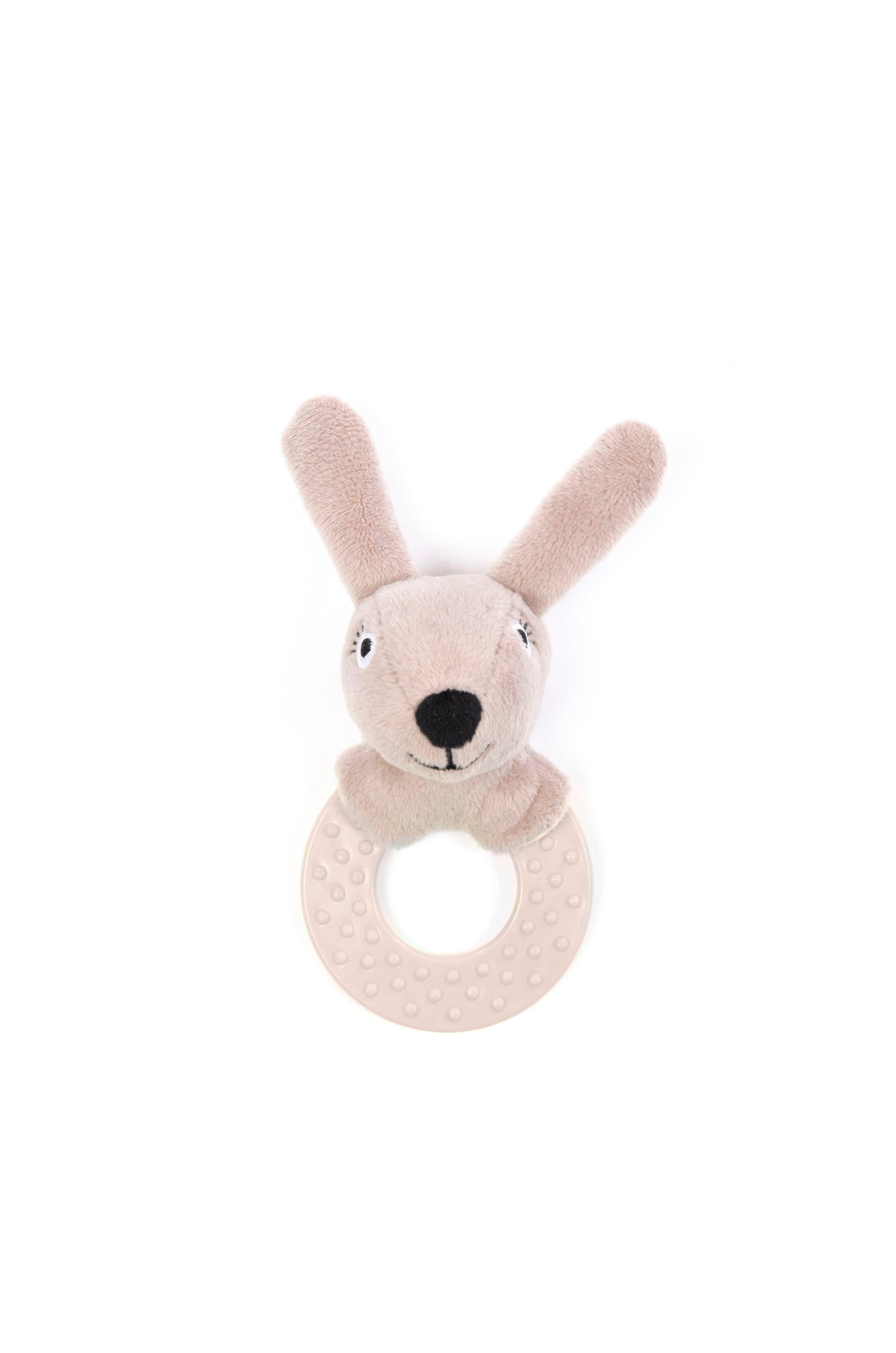 Smallstuff - Rattle Rubber Ring Rabbit - Powder