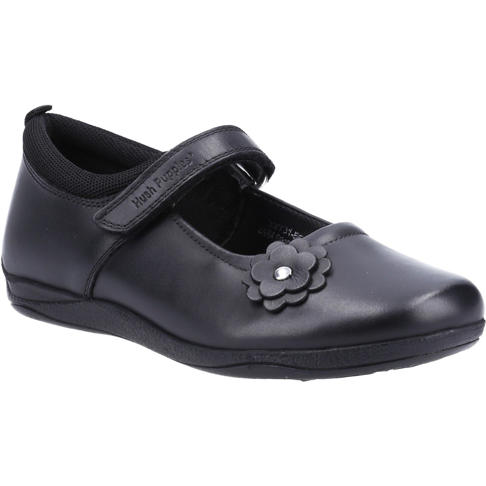Hush Puppies Kid's Zara Junior School Flat Shoe Black 32731 - Black 10