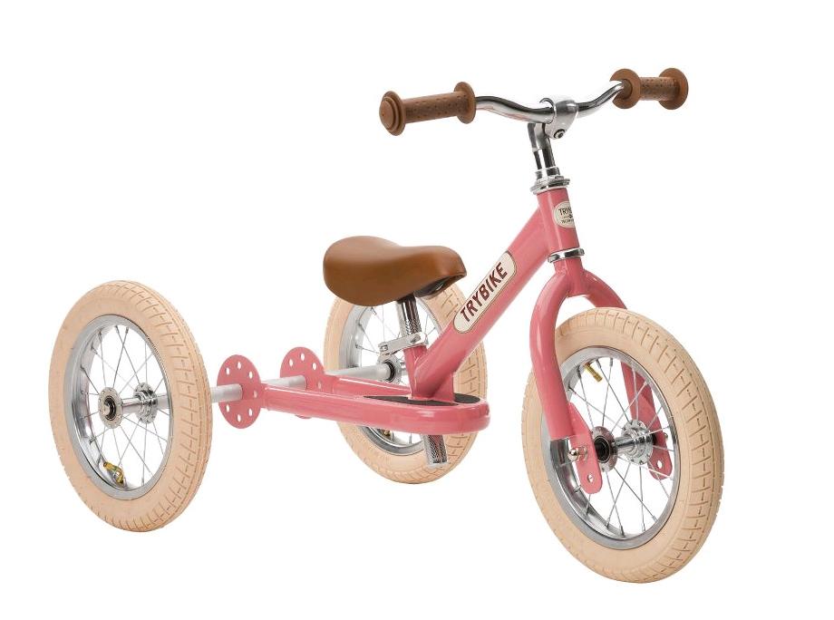 Trybike - 3 Wheel Steel, Vintage Pink