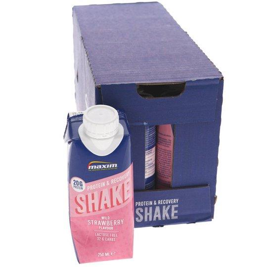 Max Protein & Recovery Shake Wild Strawberry 12-pack - 43% rabatt
