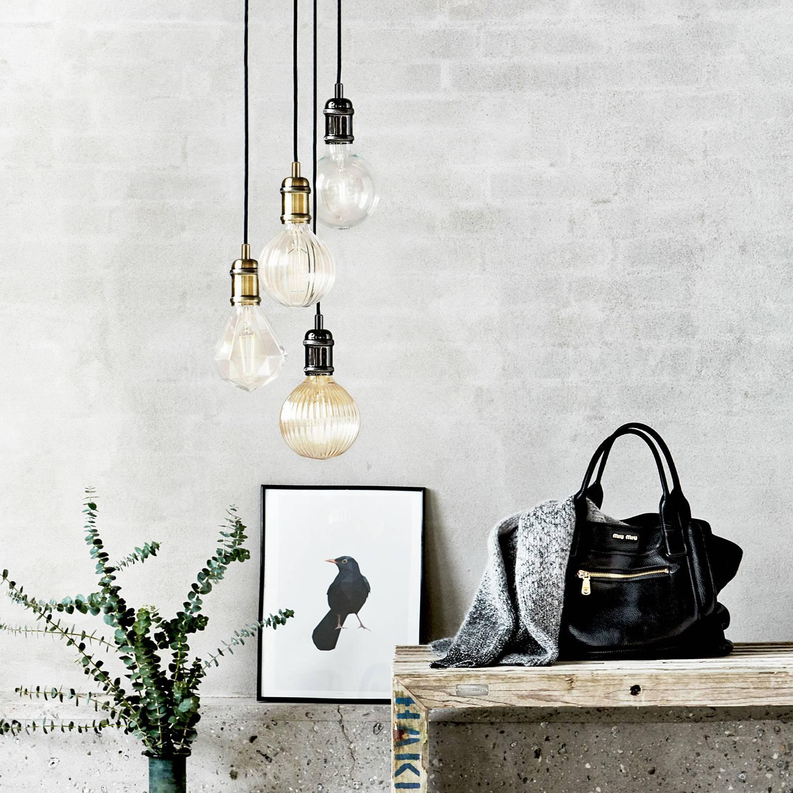 Avra - minimalistinen riippuvalo, messinki