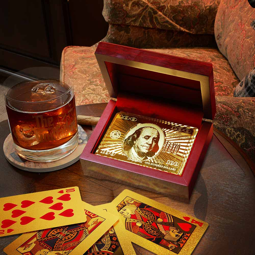 Gold Playing Cards Giftbox