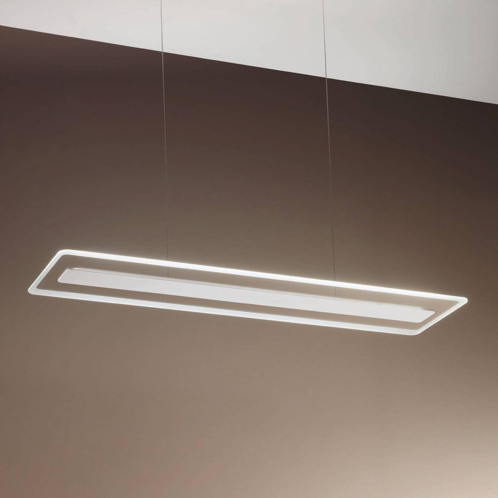 LED-riippuvalaisin Antille lasia, valkoinen