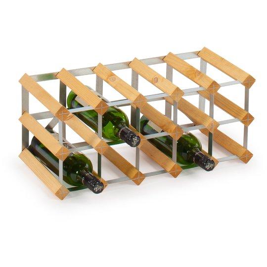 Traditional Wine Racks Vinställ Påbyggnadsbart 15 Flaskor Light oak