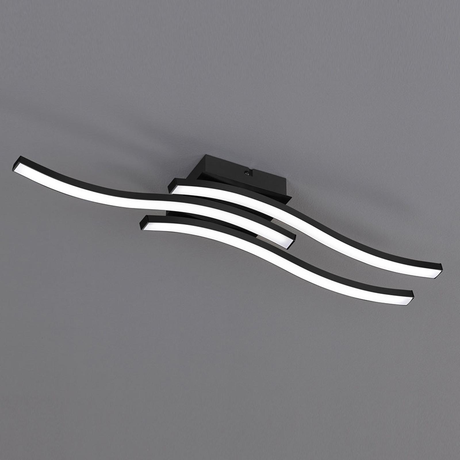 LED-kattovalaisin Route musta, kolmilamppuinen