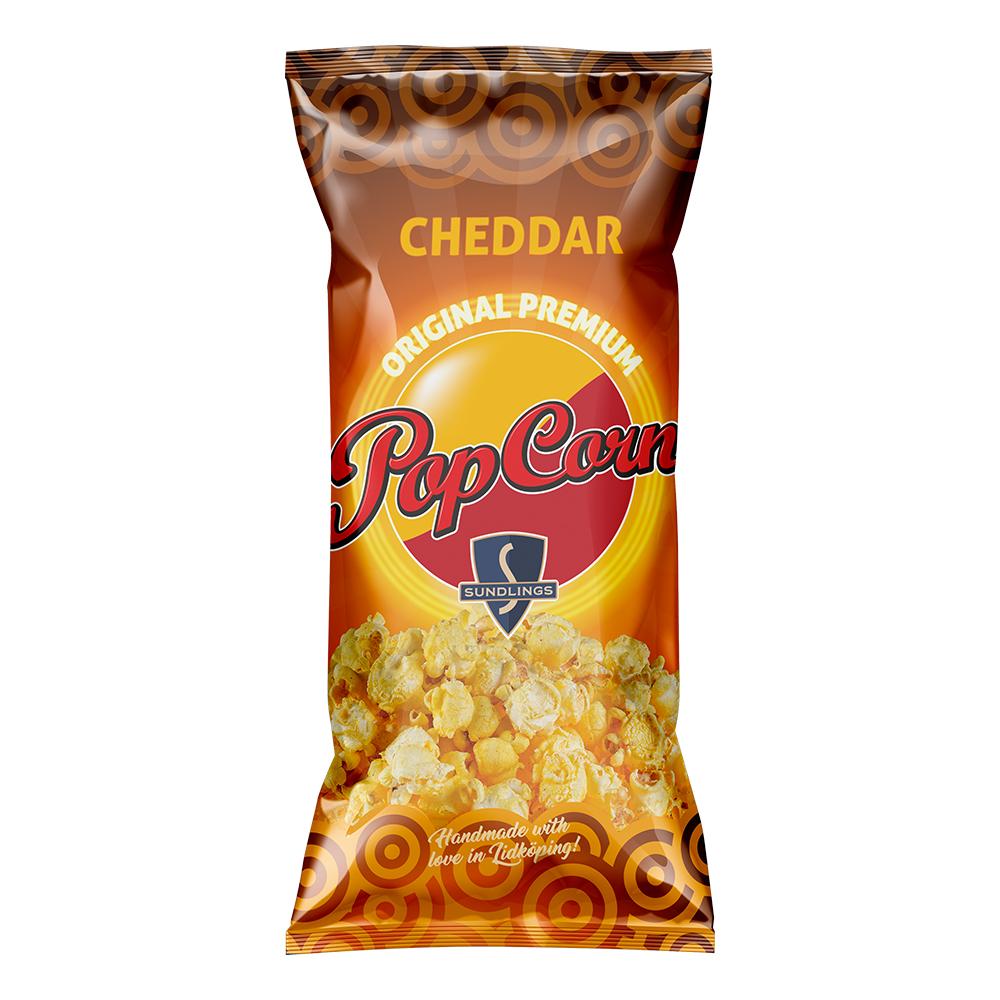 Sundlings Popcorn Cheddar - 100 g