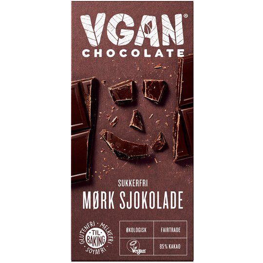 Eko Mörk Choklad 85% Sockerfri - 36% rabatt