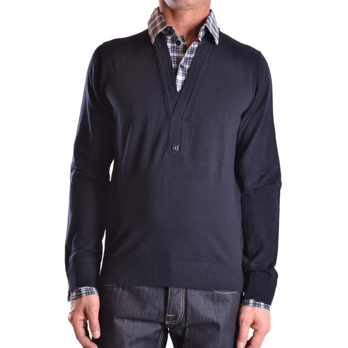 Bikkembergs Men's Sweater Blue 184443 - blue L