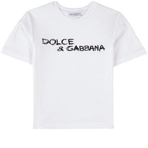 Dolce & Gabbana Logo T-shirt Vit 2 år