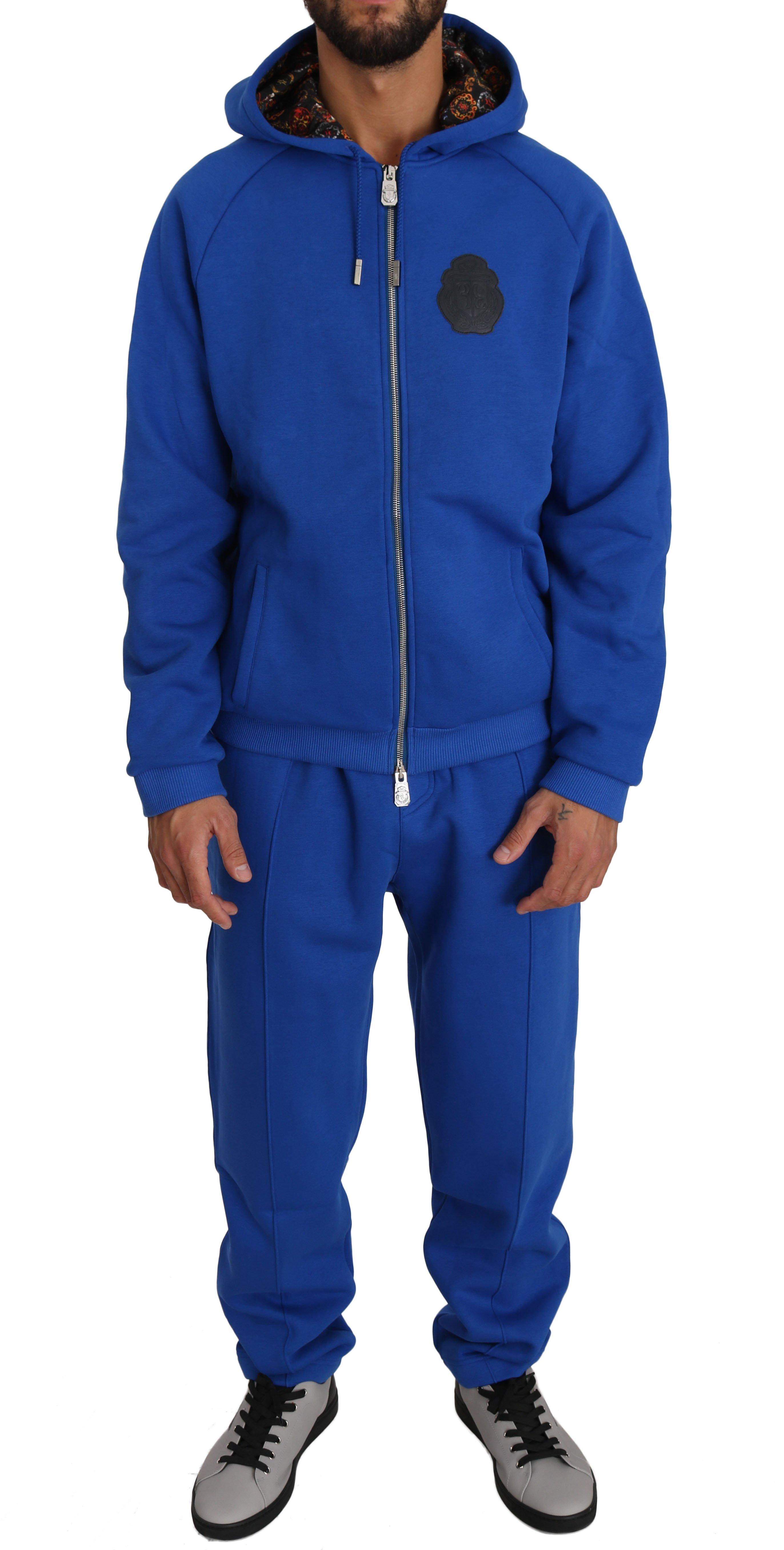 Billionaire Italian Couture Men's Tracksuit Blue BIL1025 - 3XL
