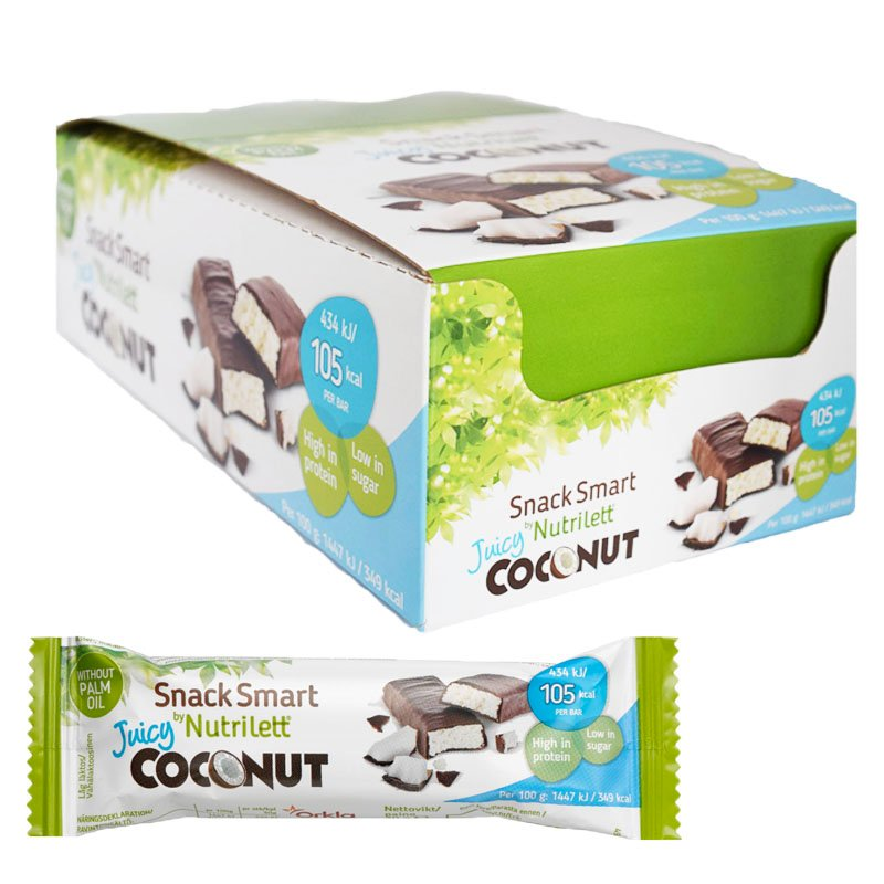 """Laatikollinen välipalapatukoita """"Juicy Coconut"""" 28 x 30 g - 50% alennus"""