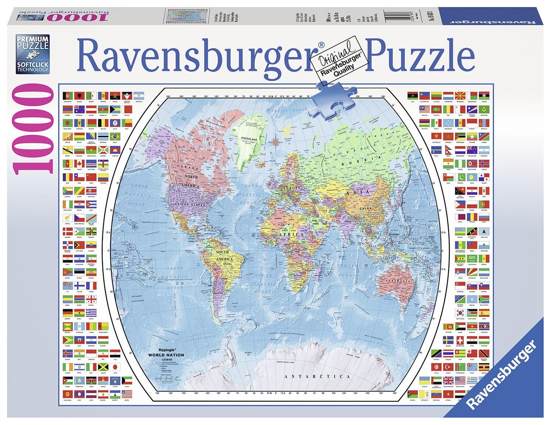 Ravensburger Pussel Politisk Världskarta 1000 Bitar