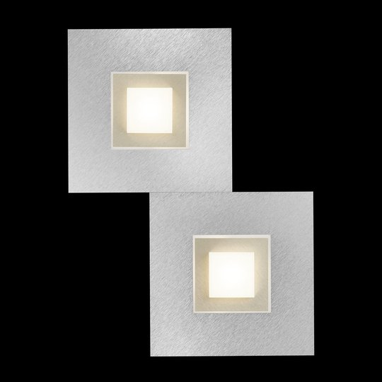 GROSSMANN Karree LED-seinävalaisin, 2-lampp.